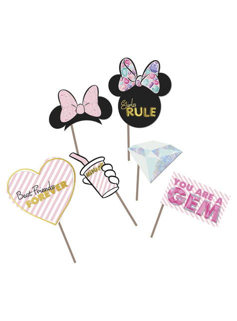 6 accessoires photocall Minnie Mouse - Minnie Party Gem