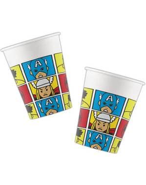 סט 8 כוסות הנוקמים - הנוקמים פופ Comic
