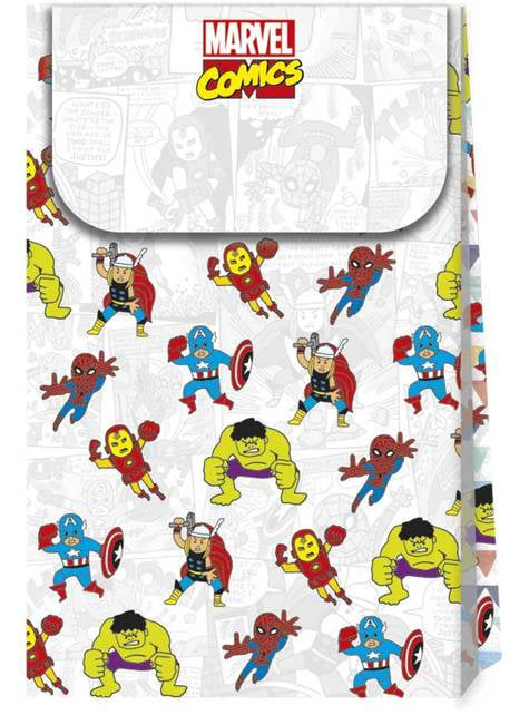 4 sacos de doces de Os Vingadores - Avengers Pop comic