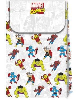 4 Sachets à bonbons Avengers - Avengers Pop comic