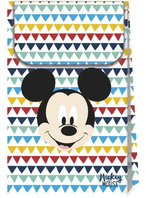 4 bolsas de chucherías de Mickey Mouse - Mickey Awesome