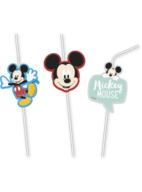 6 pailles  de Mickey Mouse - Mickey Awesome