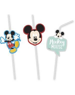 6 pajitas de Mickey Mouse - Mickey Awesome