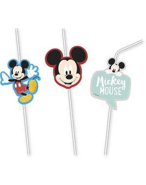 6 Mickey Mouse rietjes - Mickey Awesome