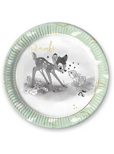 Set de 8 platos redondos de Bambi - Sweet Bambi