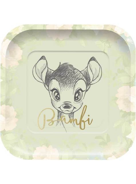 4 platos cuadrados de Bambi (24 cm) - Sweet Bambi