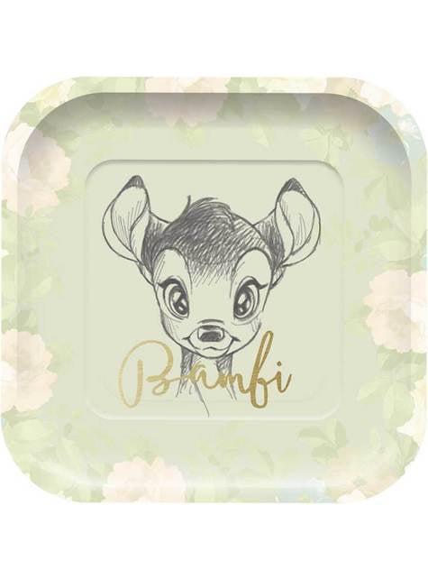 4 pratos quadrados de Bamb (24 cm) - Sweet Bambi