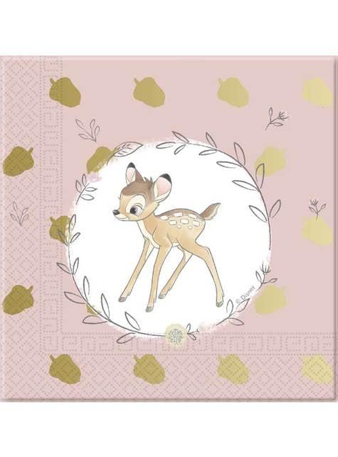 Set of 20 Bambi Napkins - Sweet Bambi