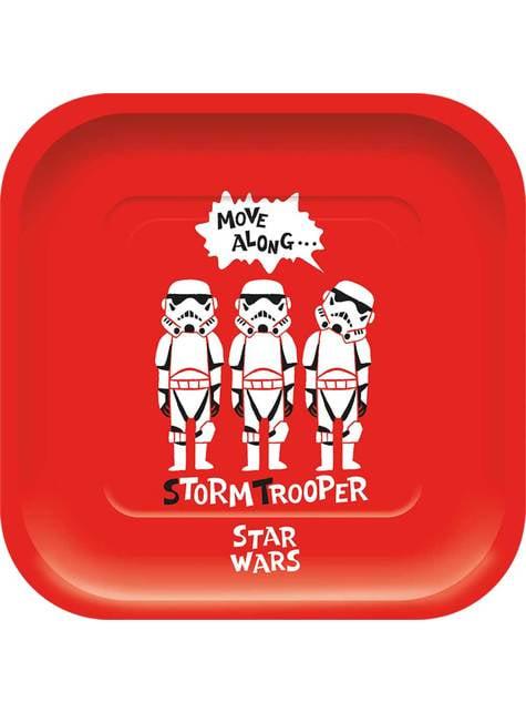 4 platos cuadrados de Star Wars - Star Wars Pop Comic