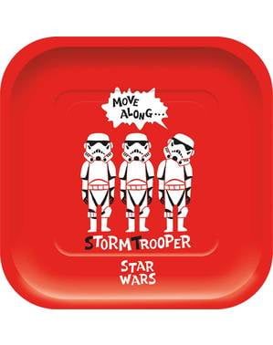 4 pratos quadrados de Star Wars divertido - Star Wars Paper Cut