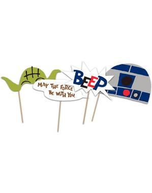 6 accesorii pentru photocall funny Star Wars - Star Wars Paper Cut