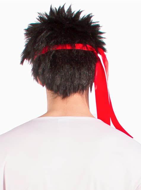 Peluca de Ryu - Street Fighter - para tu disfraz