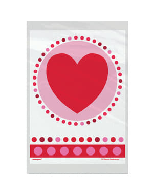 Set of 50 bags with hearts and polka dots - Radiant Hearts