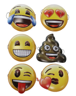 Komplet 6 masek Emoji dla dorosłych