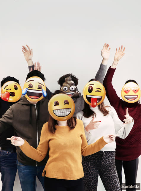 Sæt med 6 emoji ansigtsmasker
