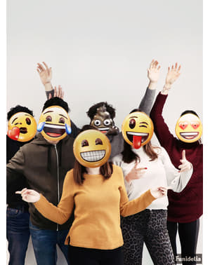 Emoji näomaskid - komplekt 6