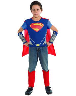 Set de fatos Super-Homem e General Zod Homem d' Aço para menino