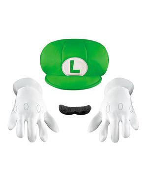Kit de acessórios Luigi deluxe para menino
