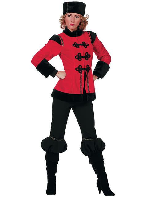 Costume da cosacco rosso per donna