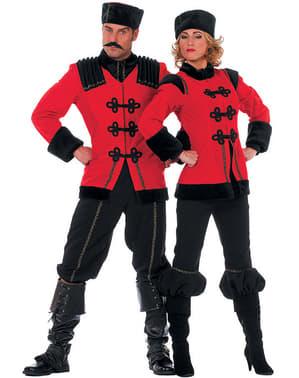 Rood kozakken kostuum voor vrouw