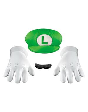 Kit de accesorios Luigi deluxe para adulto