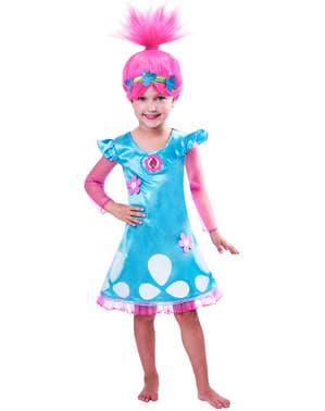 Poppy Kostyme til Jenter - Trolls