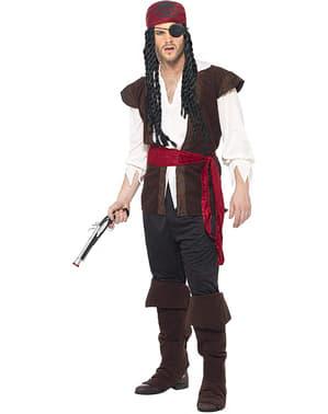 Pirat der Weltmeere Kostüm für Herren