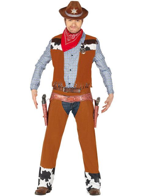 Fato de cowboy do rodeo para adulto