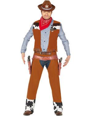 Maskeraddräkt rodeocowboy för vuxen