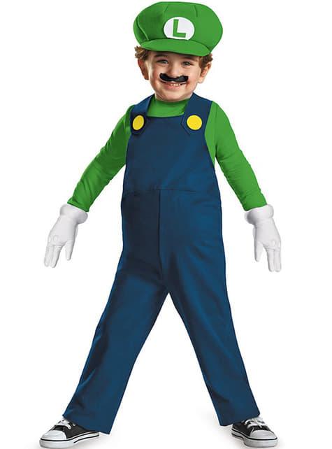 Disfraz de mini Luigi deluxe para niño