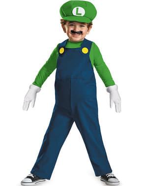 Mini Luigi Kostüm delux für Jungen