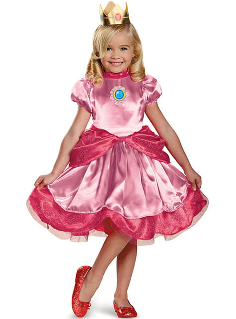 Mini Princess Peach Kids Costume