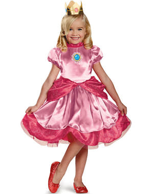 Mini Prinsesse Peach kostume til piger