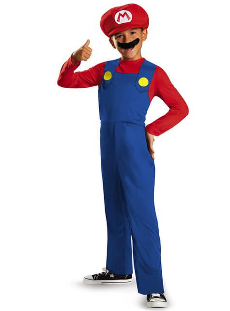 Fato de Mario Bros classic para menino