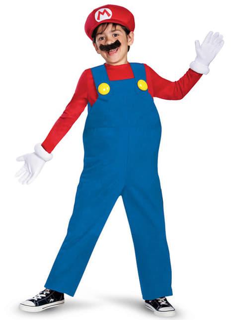 Deluxe Mario Bros kostuum voor jongens