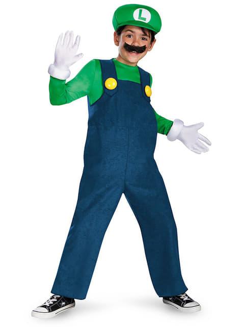 Déguisement de Luigi prestige pour garçon