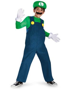 Deluxe Luigi kostuum voor jongens
