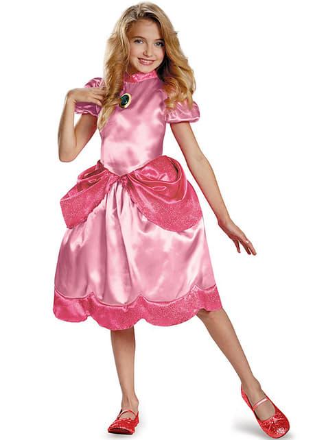 Maskeraddräkt Prinsessan Peach classic för barn