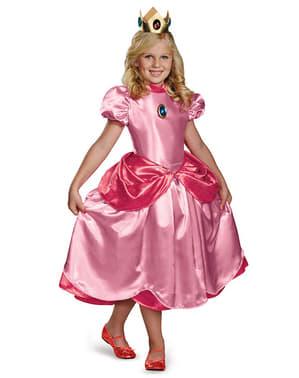 Deluxe Prinsessan Peach Maskeraddräkt för flicka