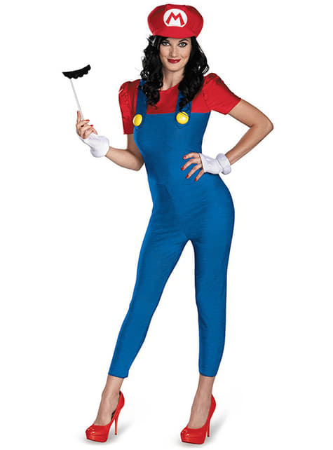 Mario Bros kostuum voor vrouw
