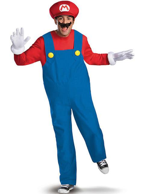 Maskeraddräkt Super Mario Bros premium för vuxen