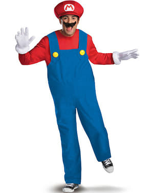 Deluxe Mario Bros Costume for Adults