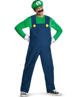 Deluxe Luigi kostuum voor volwassenen