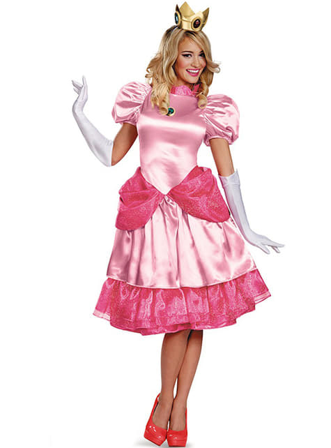 Fato de Princesa Peach prestige para mulher