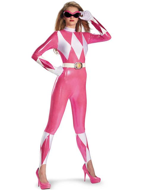 Fato de Power Rangers cor-de-rosa sexy deluxe