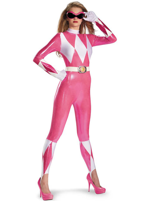 Roze Power Ranger kostuum voor vrouw