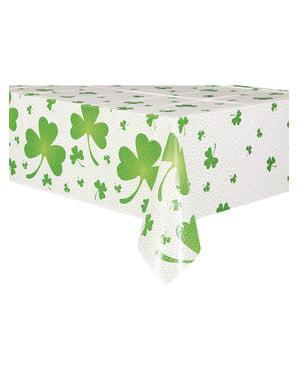 Kleeblatt und Punkte Tischdecke grün