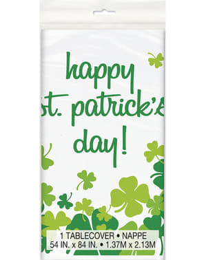 Happy St Patrick's Day clover tablecloth