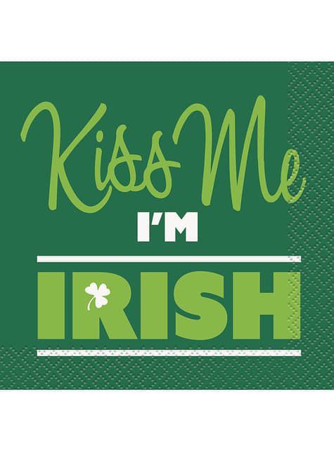 16 servilletas de cóctel Kiss me I'm Irish (13x13 cm)