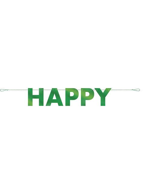 Guirnalda Happy St Patrick's Day aluminio verde